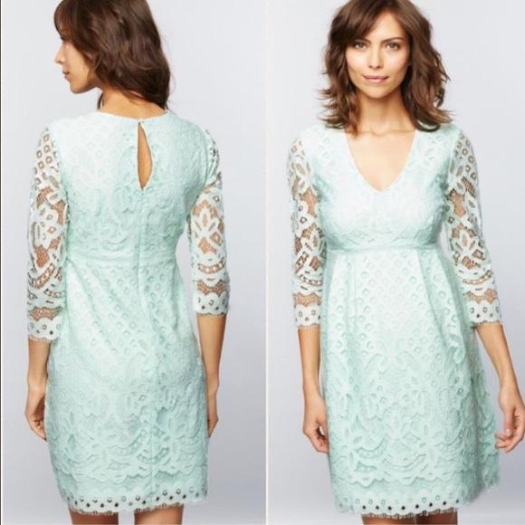21fbd562c424a A Pea in the Pod Dresses | Maternity V Neck Mint Lace Dress | Poshmark